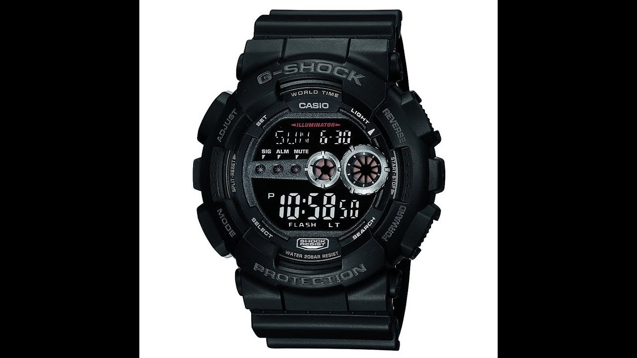 cd327f68eff8 Best Buy Casio G-Shock GD 100 1B Watch - Best Casio G-shock Watches ...