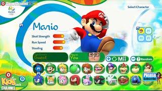 "Mario Sonic Rio 2016 Olympic Games ""Duel Football Match"" Nintendo Wii U Gameplay Video"