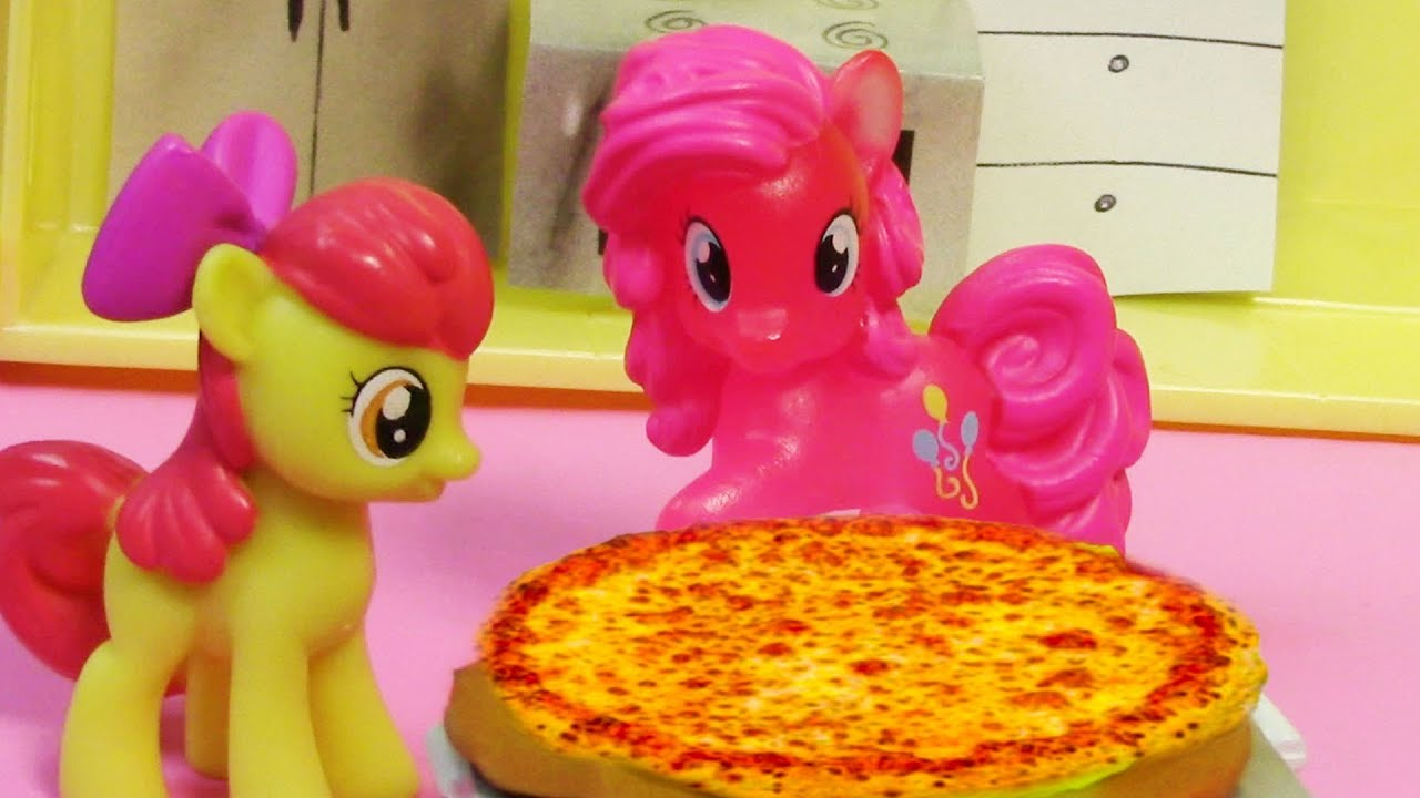 My Little Pony Toy Food : Pinkie pie pizza my little pony apple bloom mlp toy