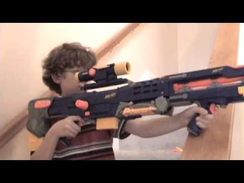 how to make a lego nerf gun that shoots