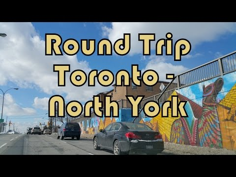 Summer Round Trip between Downtown Toronto (Ryerson University) and North York (Keele and Lawrence)