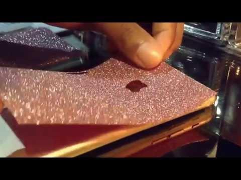 Skin Blink Glitter Sticker Installation Iphone 6