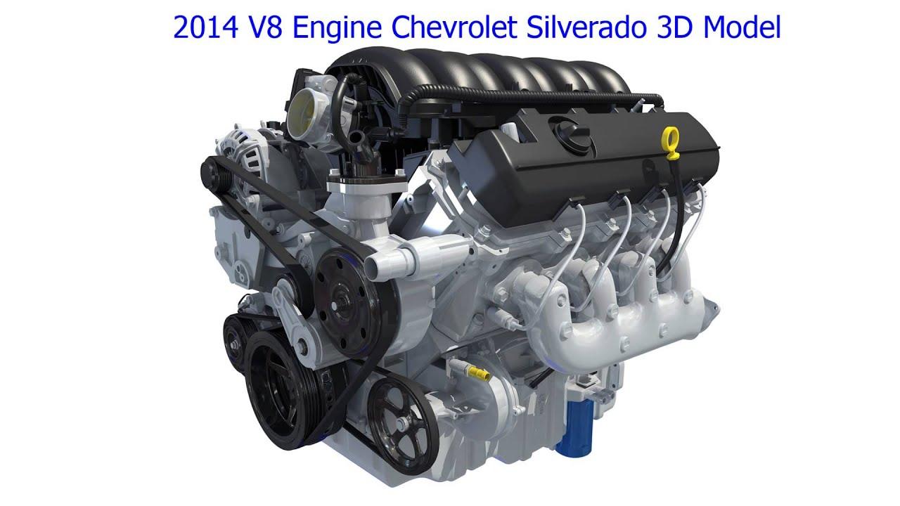 Chevrolet silverado v8 engine 3d model youtube for 3d search engine