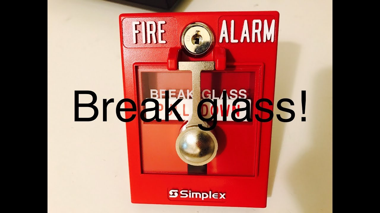 review demo of the simplex 2099 9103 break glass pull station