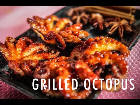 Grilled Octopus With Spicy Sauce