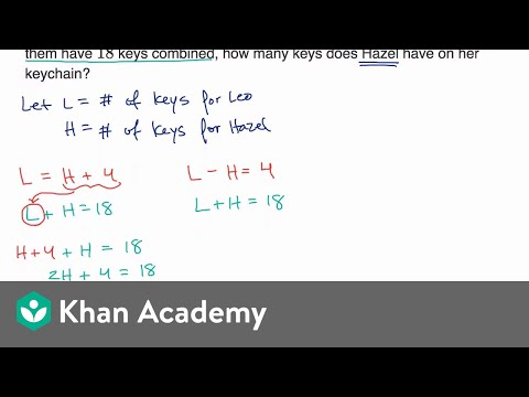 Systems of linear equations word problems — Basic example | Math | SAT | Khan Academy