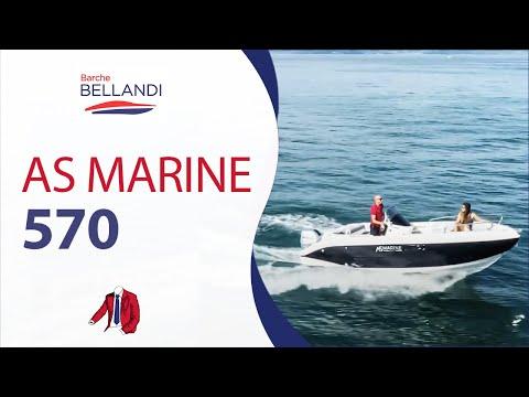 AS MARINE 570 - Barca con motore HONDA - Guida senza patente nautica a bordo
