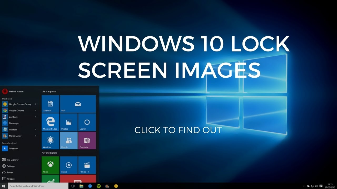 Windows 10 Desktop Lock Screen Wallpaper Hd