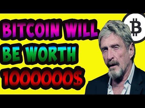 John Mcafee on Bitcoin future Do not panic| Bitcoin will be 1 million$
