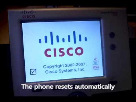 Cisco 7945 / 7965 SIP upgrade video tutorial