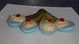 Как покрасить Яйца фаршированные   - пошаговый  рецепт с фото #edblack