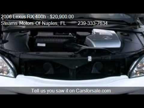 2006 lexus rx 400h 400h for sale in naples fl 34104 for Stearns motors naples florida