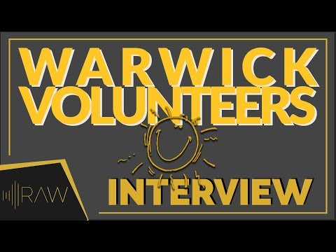 Warwick Volunteers Week | RAW Interviews