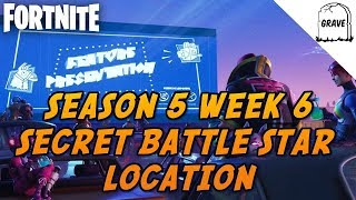 (PS4) Fortnite Season 5 Week 6 Secret Battle Star Location