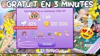 être VIP 1 AN STAR GRATUIT, EN 3 MINUTES ♥