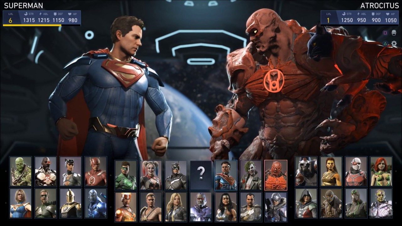 injustice 2 all characters list hd 1080p60fps youtube