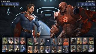 Injustice 2 - All Characters | List (HD) [1080p60FPS]