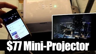 Cheap Mini Projector iPhone, Computer, USB, SD Card, Tomtop.com Unboxing e Test