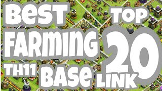 Top 20 Best Th11 Farming Base 2018 | Farming Base CoC
