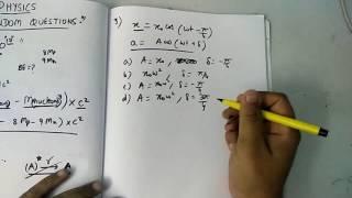 Physics (random questions for NEET) #1