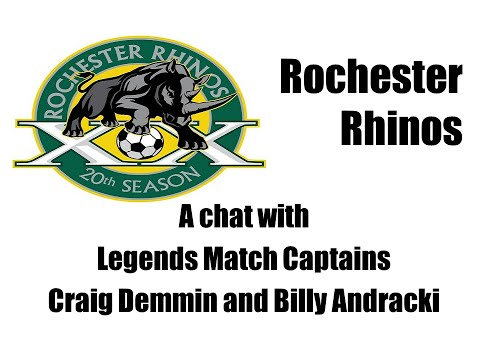 Rhinos Legends Match Captains Andracki & Demmin