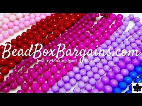 March 2019 Bead Box Bargains | Online Shopping | Jewelry Making Craft Haul