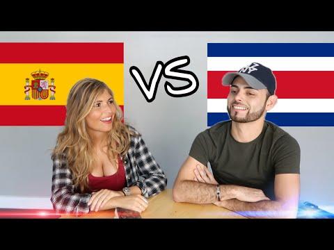 ESPAÑA VS COSTA RICA / PALABRAS ESPAÑOLAS VS PALABRAS TICAS