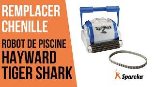 Comment remplacer la chenille du robot Hayward Tiger Shark ?