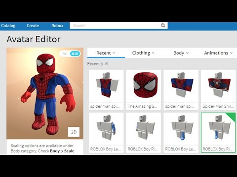 Making Spider Man A Roblox Account Youtube