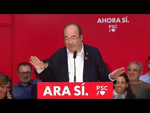 Miquel Iceta  a l'Acte de municipalisme a Sant Joan Despí (3/11/2019)