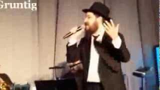 Benny Friedman Sings ''Ani Mamin'' at the Kinus Banquet