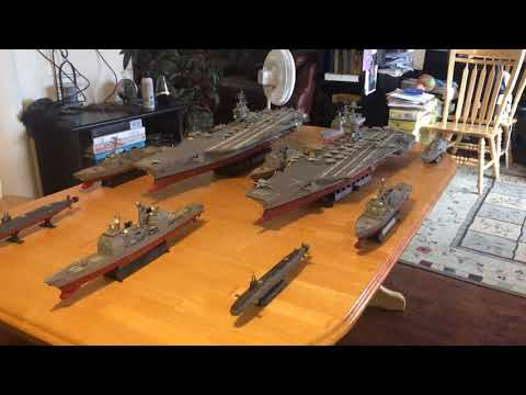 US Navy Carrier Strike Group (CSG) in 1/350 scale (2 carriers)