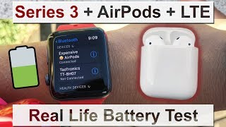 Apple Watch⌚️Series 3 LTE + AirPods | Battery Life Test | Nike +