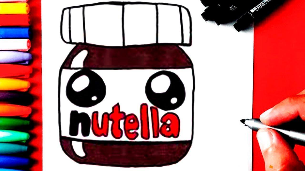 Como Desenhar E Pintar Nutella Kawaii