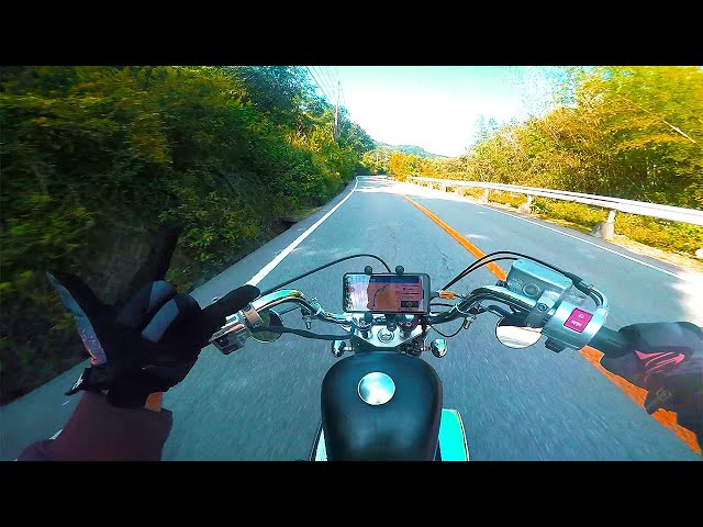 HONDA V-TWIN MAGNA 250 / in犬鳴山峠【Exhaust Sound】