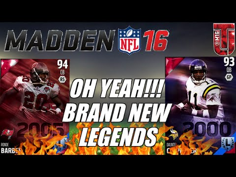 OH YEAH!!! BRAND NEW LEGENDS TO MUT 16 | Daunte Culpepper & Ronde Barber | Madden Ultimate Team 16
