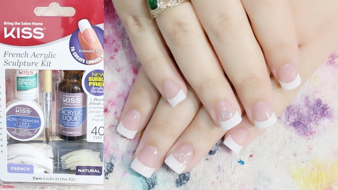 Acrylic Nail For The First Time Kiss French Sculpture Kit Nails At Home You