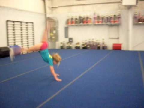 front handspring step out round off back handspring layout