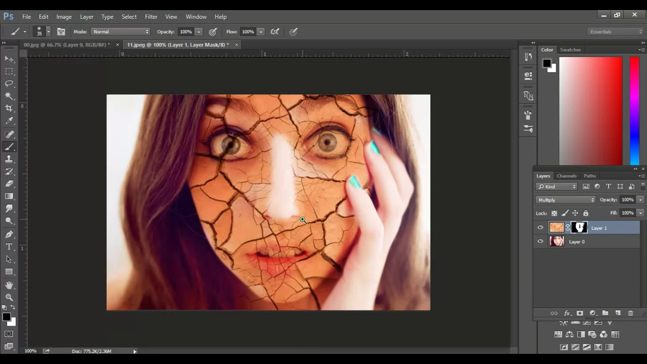 Line Art Effect Photoshop Tutorial : How to create invisible clothes using line art photoshop