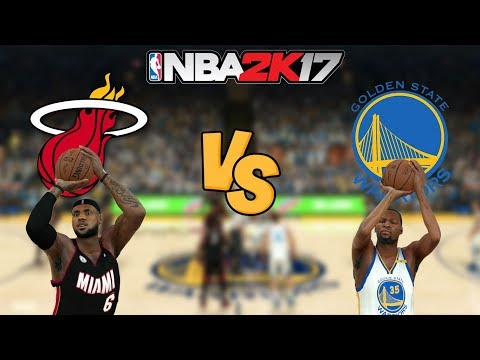 NBA 2K17 - Miami Heat 12' vs. Golden State Warriors - Full Gameplay (Updated Rosters)