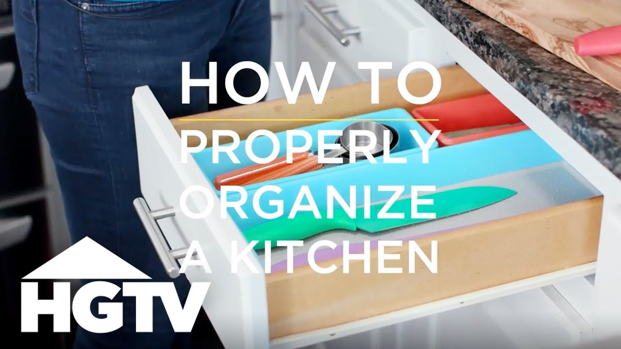 How to Organize Your Kitchen - How to House - HGTV - YouTube