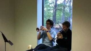 In the window-Vivaldi concerto for two trumpets in C