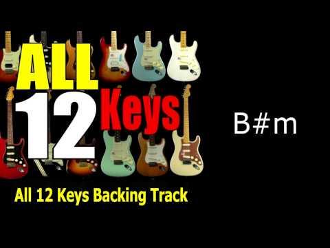 ALL 12 KEYs  Guitar Backing Track 137 Bpm Highest Quality