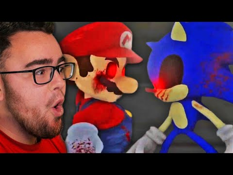 Reacting to the Evil MARIO.EXE vs Evil SONIC.EXE the FIGHT!  