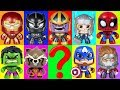 Spiderman and Marvel Avengers - Learn Colors with Slime Game Play Doh Surprise Cups