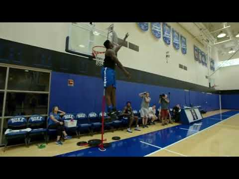 Vertical jump Zion Williamson - YouTube
