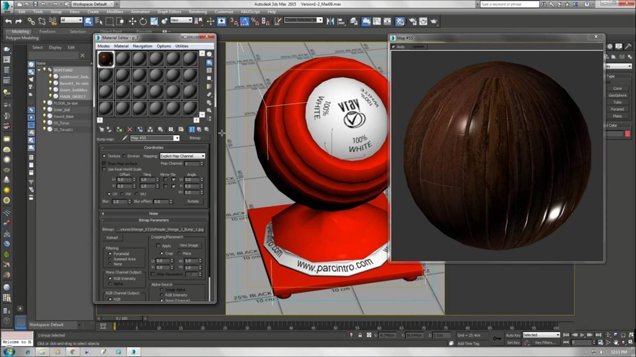 Realistic Wood Floor Material Vray 3 7 3ds Max Vray Tutorial 2016