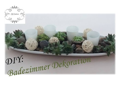 diy badezimmer dekoration selber machen mit sukkulenten fr hlingsdekoration youtube. Black Bedroom Furniture Sets. Home Design Ideas
