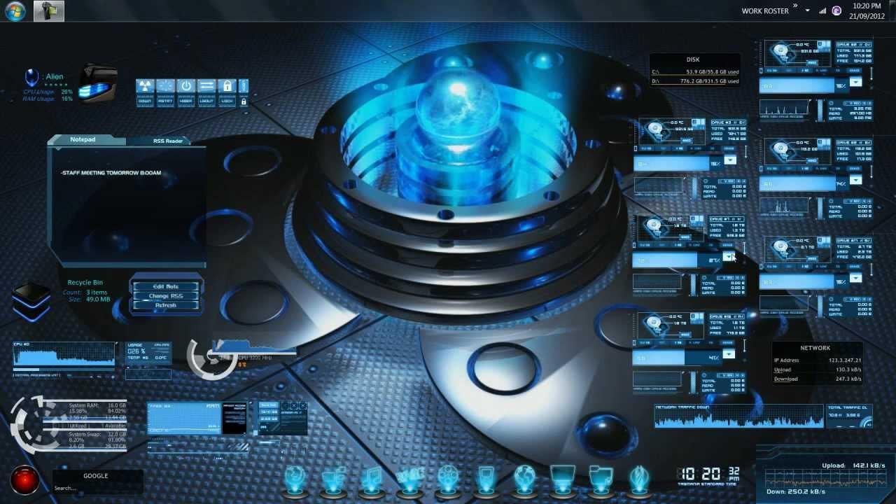 My Custom Pc Desktop User Interface
