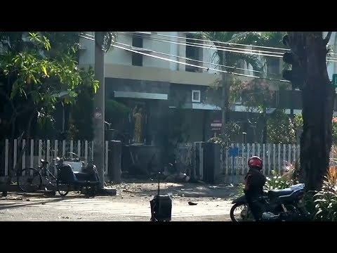 More than a dozen killed in Indonesia church bombings